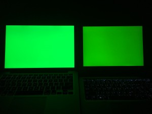 MacBook Pro 13和Elite x2 1012 G1绿色对比