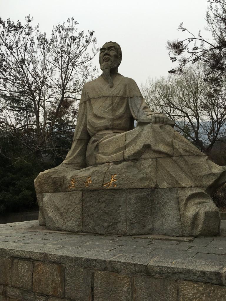 吴承恩石像