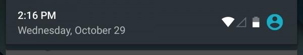 安卓6.0通知面板(两边有空袭)