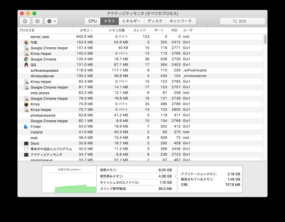 尝试同时开着Chrome和Kinza(全部初始状态只开一个新页面和日本雅虎.)记忆体占用是这样的......(某程度上差不多就是了......)