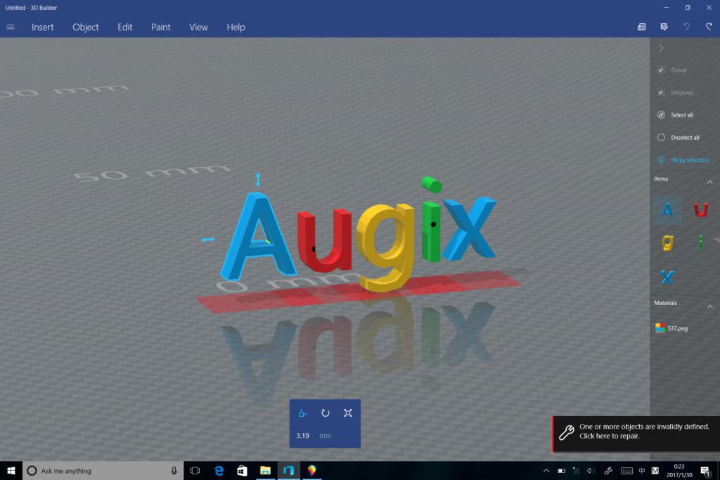 3DBuilder-将Paint3D导出的文件放到3DBuilder再次编辑.