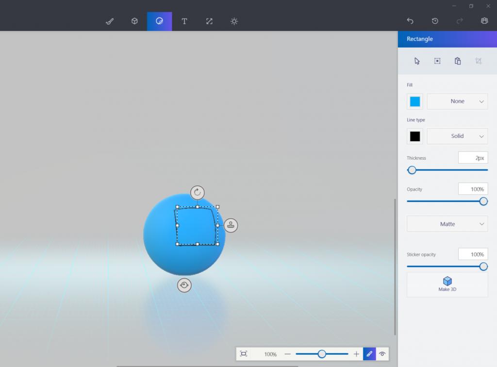 Paint3D-将2D图形贴到3D图形上面