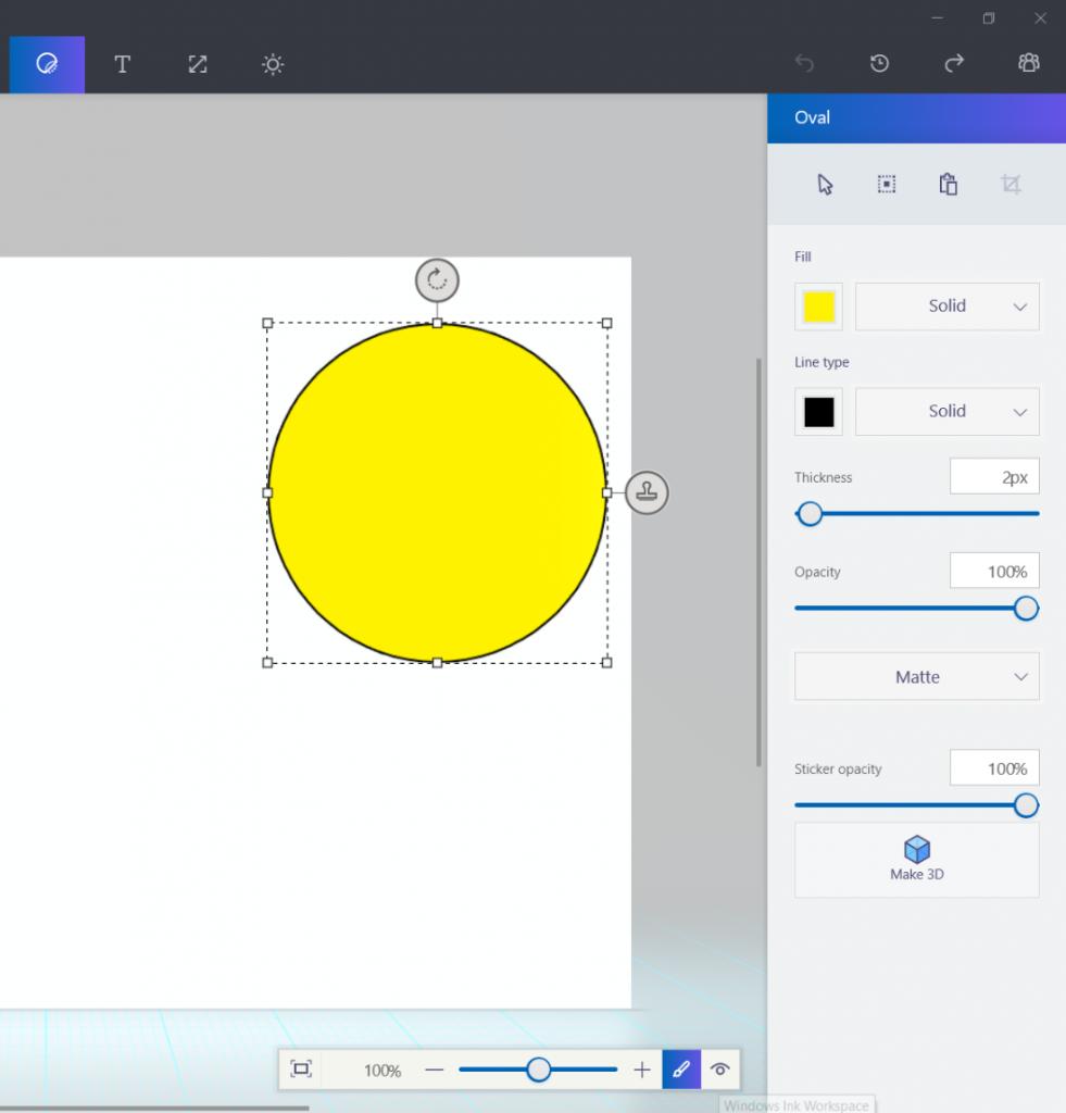 Paint3D-2D图形设置
