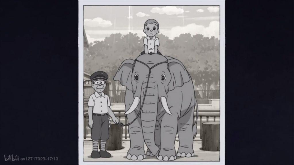 叔叔与大象合影