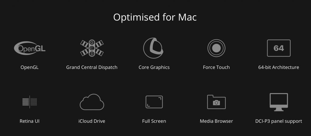 Affinity Photo支持众多macOS特性