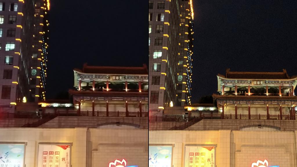 坚果Pro 2与Pixel夜拍样张细节对比