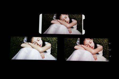 Nokia 7 Plus屏幕显示效果对比