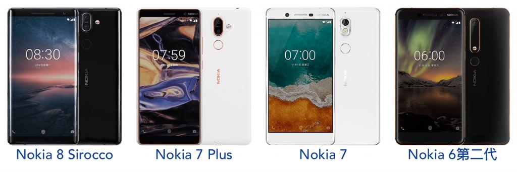HMD麾下的Nokia智能手机系列