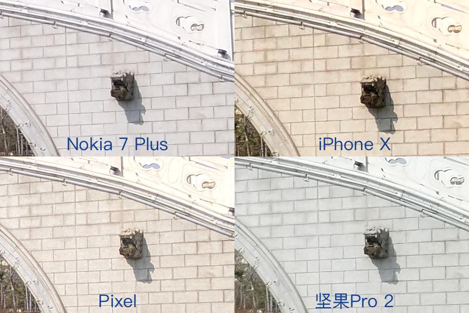 Nokia 7 Plus拍照细节对比