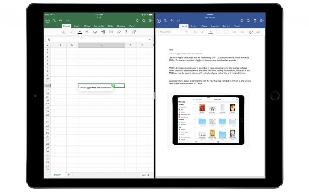 iPad上运行Office应用