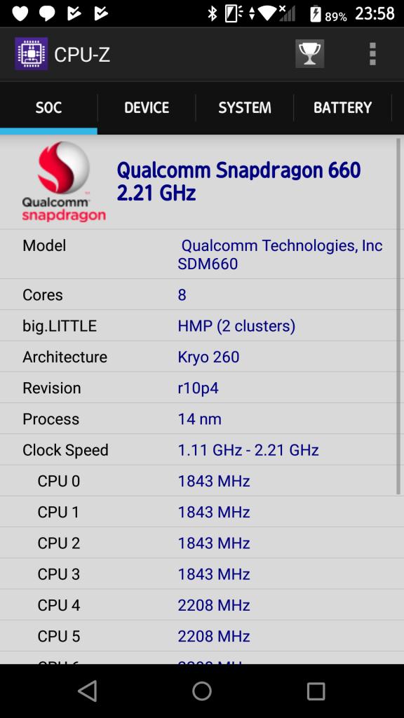CPU-Z截图,之前没升级的时候显示的是835,以至于我误以为660真的是835阉割版