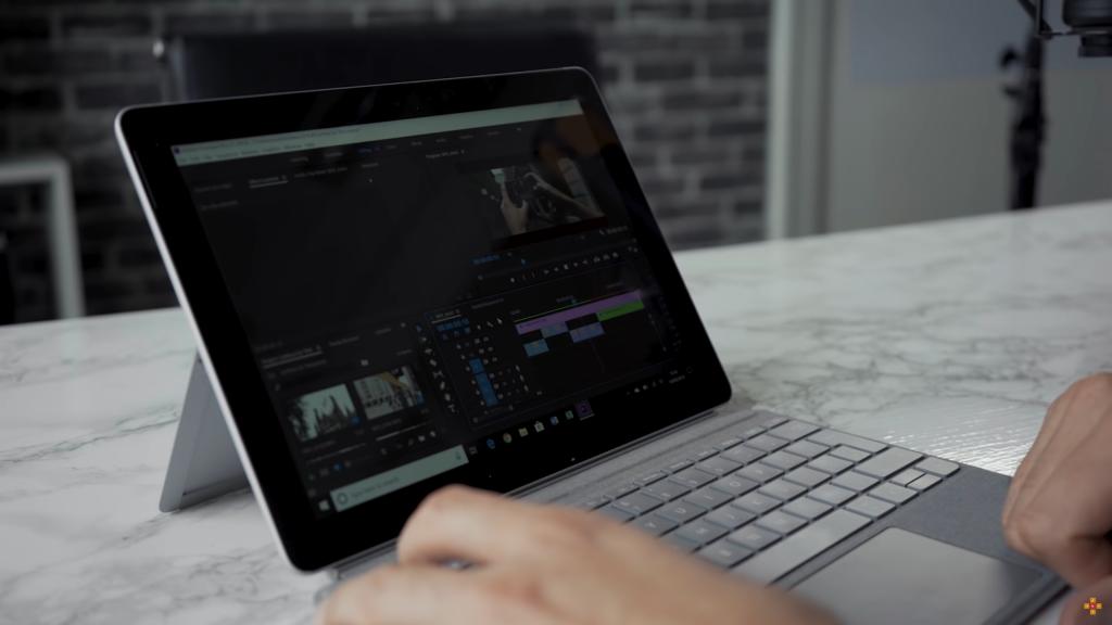 Surface Go使用Premiere Pro CC