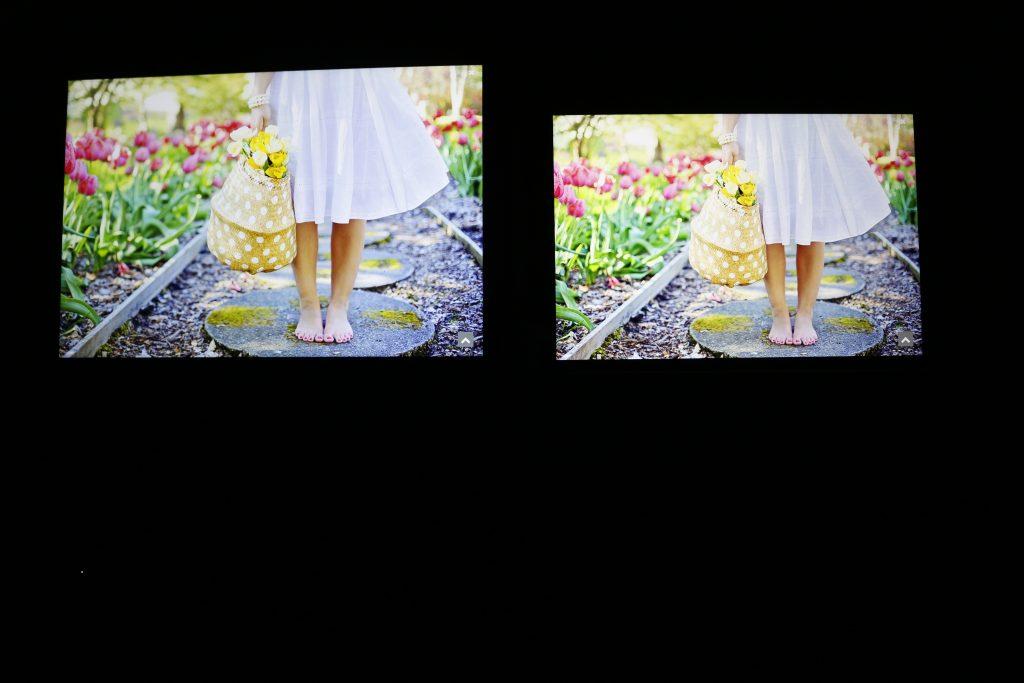 MateBook E(左)与Surface Go(右)屏幕表现对比